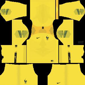 France NikeDLSGoalkeeper Home Kit