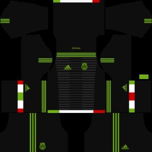 Mexico DLSGoalkeeperAway Kit