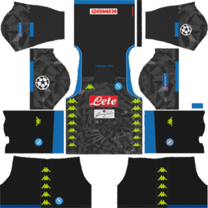 SSC Napoli DLS UCL Badge Away Kit