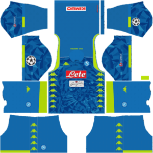 SSC Napoli DLS UCL Badge Home Kit