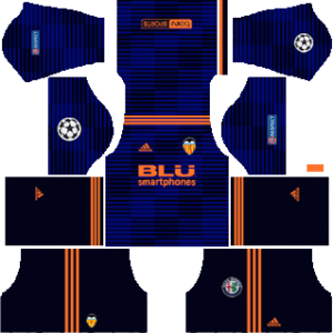 Valencia CF DLS Away UCL Kit