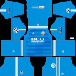 Valencia CF DLS Goalkeeper Away UCL Kit